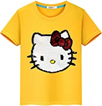 Lee Little Angel Girls Personalized Flash T-Shirt Magic Sequin Sweatshirt (Suitable for 3-12 Years Old)