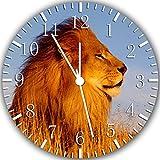 Reloj de pared de león de 25,4 cm color y para pared W135