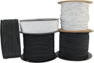 ReadyGear Shock Cord (3/8 inch) - SGT KNOTS - Bungee Cord - Affordable Elastic Shock Rope - for Bungee Straps, Hammocks, Gear Bundles, Cargo Nets, Crafting Projects (50 ft - White w Black Fleck)