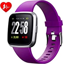 H4 Fitness Health 2in1 Smart Watch for Men Women Smartwatch with All-Day Heart Rate/Blood Pressure/Sleep Monitor IP67 Wate...