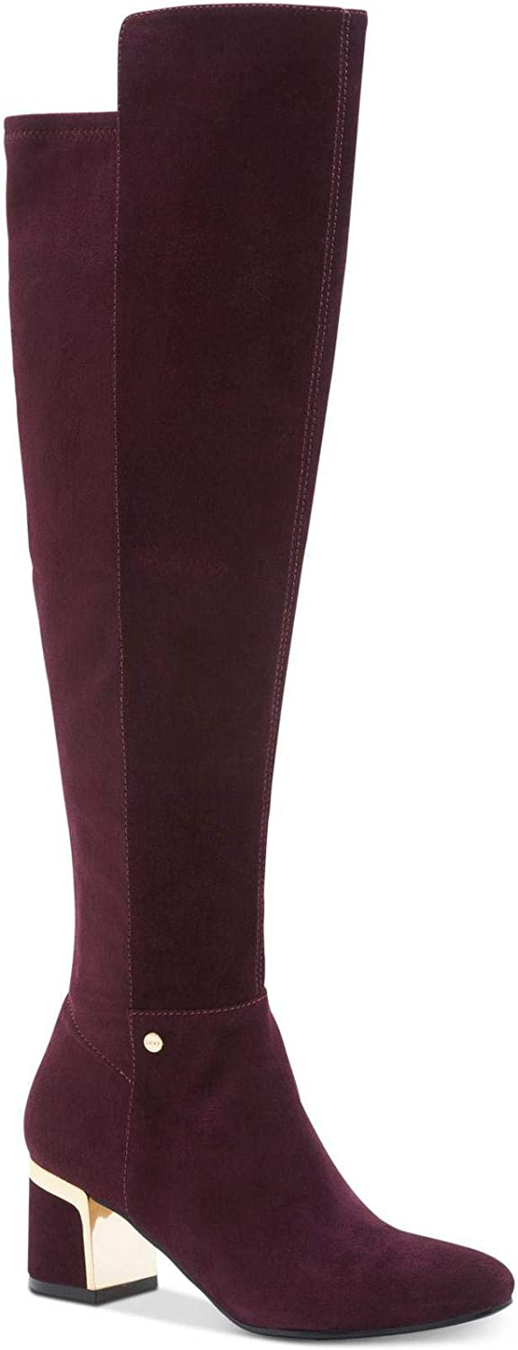 DKNY Womens Cora Leather Closed Toe Knee High Fashion Boots