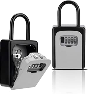 Key Lock Box, Combination Lockbox with Code for House Key Storage, Combo Door Locker