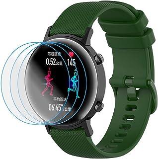 NOKOER Rem för Honor Magic Watch 2 42 mm, [2-tum1] mjuk silikonklocka rem + 3-pack TPU skärmskydd, rem ersättning [slitsta...