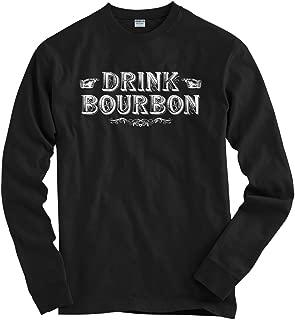 Men's Drink Bourbon Long Sleeve T-Shirt