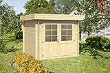 ✔️ 28 mm WANDSTÄRKE: Gartenhaus mit hochwertigen 28 mm starken Blockbohlen. Die 4-fach Eckausfräsung gewährt eine besonders hohe Wind- und Regendichtigkeit. Wir verwenden ausschließlich besonders hochwertiges Fichtenholz für das Gerätehaus. ✔️ MASSIV...