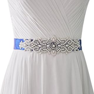 Azaleas Women's Pearl Wedding Belt Sashes Bridal Sash Belt for Wedding