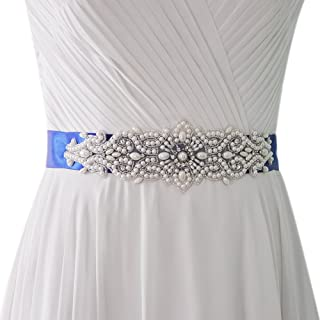 Azaleas Women's Pearl Wedding Belt Sashes Bridal Sash Belt for Wedding
