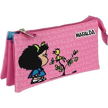 Grafoplás 37540649-Estuche portatodo triple diseño Mafalda ...