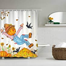 Custom Design Bathroom Shower Curtain Durable Fabric Bath Curtain Waterproof Bathroom Curtain with 10 Hooks (80
