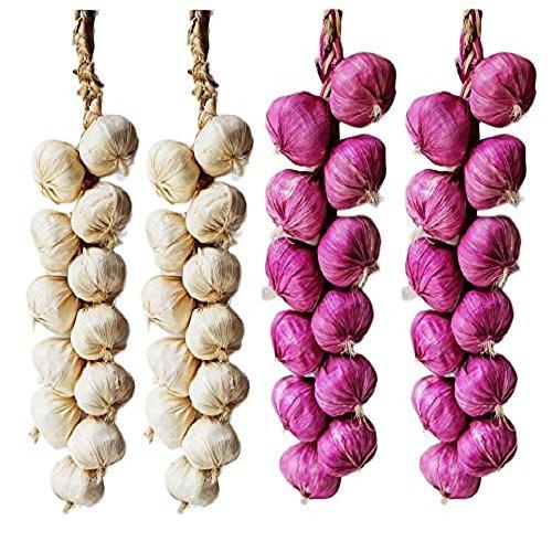Nopea Knoblauch Saiten Künstlich Knoblauch Artificial Onion String Künstlich Knoblauch Schnüre Künstliche Gemüse Drinnen Dekor Für Haus Küche Garten