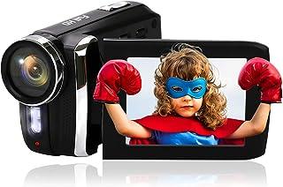 "Video Camera Camcorder for Kids 1080P Full HD Digital Vlogging Camcorders for YouTube 20FPS 12MP 2.8"" Rotation Screen Digi..."