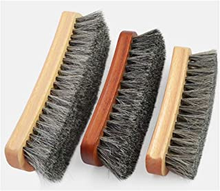 JTKDL Shoe Polish Kit Natural Soft Horsehair Bristles Shoe Shine Brush Set Polish Applicator Microfiber Buffing Cloth for Shoes Leather Bag and More