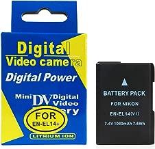 RUISI EN EL14A EN-EL14 Power Charging Set Rechargeable Battery Kit for Nikon D3100, D3200, D3300, D5100, D5200, D5300, D5500, D5600, DF, Coolpix P7000, P7100, P7700, P7800 DSLR Cameras