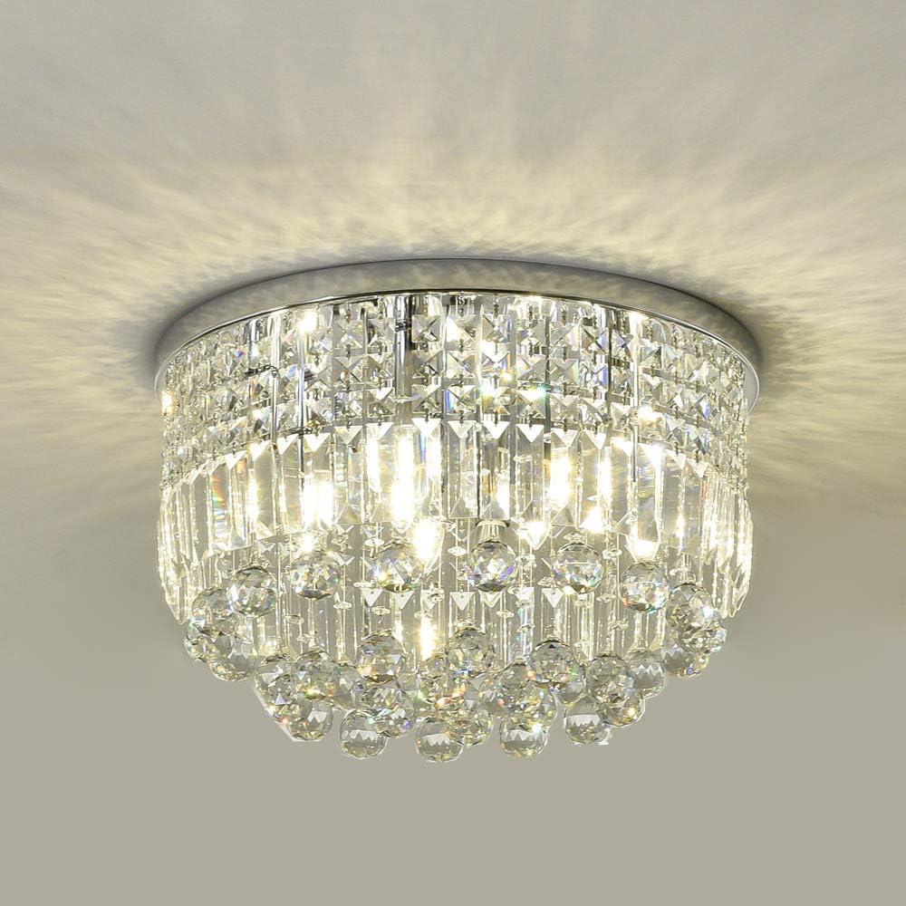 SEFINN FOUR K9 Crystal Ceiling online shopping Height 11 Chandelier Lights inch 4 years warranty