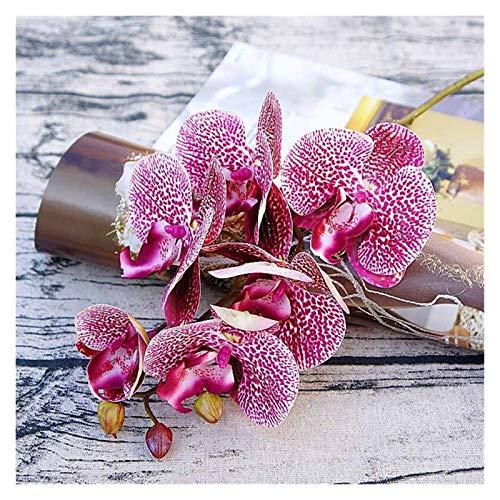WXL Gefälschte Blume 1 Bündel (6 Köpfe Kunststoff Schmetterling Orchidee Vasen Hochzeit Dekorative Blumen Karton Künstliche Blume Blume (Color : Rose red)