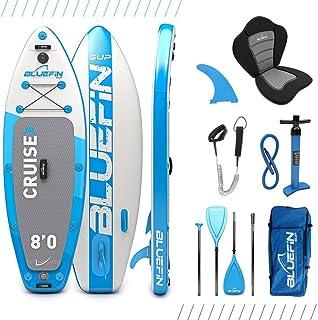 Paquete de Sup Bluefin Cruise | Tabla de Paddle Surf Hinchable | Remo de Fibra de Vidrio | Kit de Conversión a Kayak | Accesorios Completos | 5 Años de Garantía | Varias Medidas: 10'8, 12', 15'