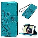 YOKIRIN iPhone 7 Hülle Case, iPhone 7 Tasche PU Leder Handytasche Handyhülle Premium Blumen...