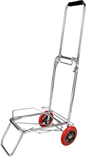 Onicron Traveling Shopping Luggage Cart Trolley Outdoor Travel Shopping Cart Supermarket Luggage Trolley (Silver, Stainles...