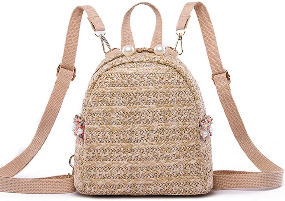 Women Woven free shipping Backpack School Rattan T Bag Dedication For Student Bags