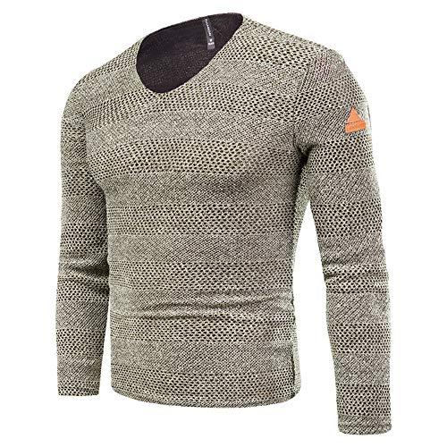 Subink Sweatshirts für Herren, Supreme Sweatshirt, Sweatshirts, Herren T-Shirts, Longsleeve Herren Slim Fit Bottoming Shirts Gr. XX-Large, blau
