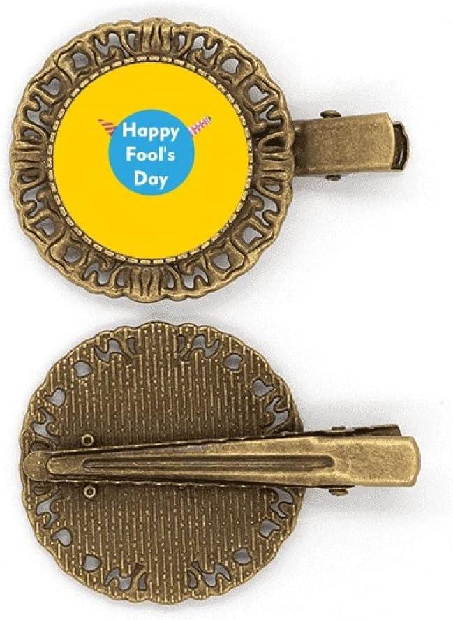 Broche para el pelo de Happy April Fools Art Deco regalo de moda horquilla tocado broche