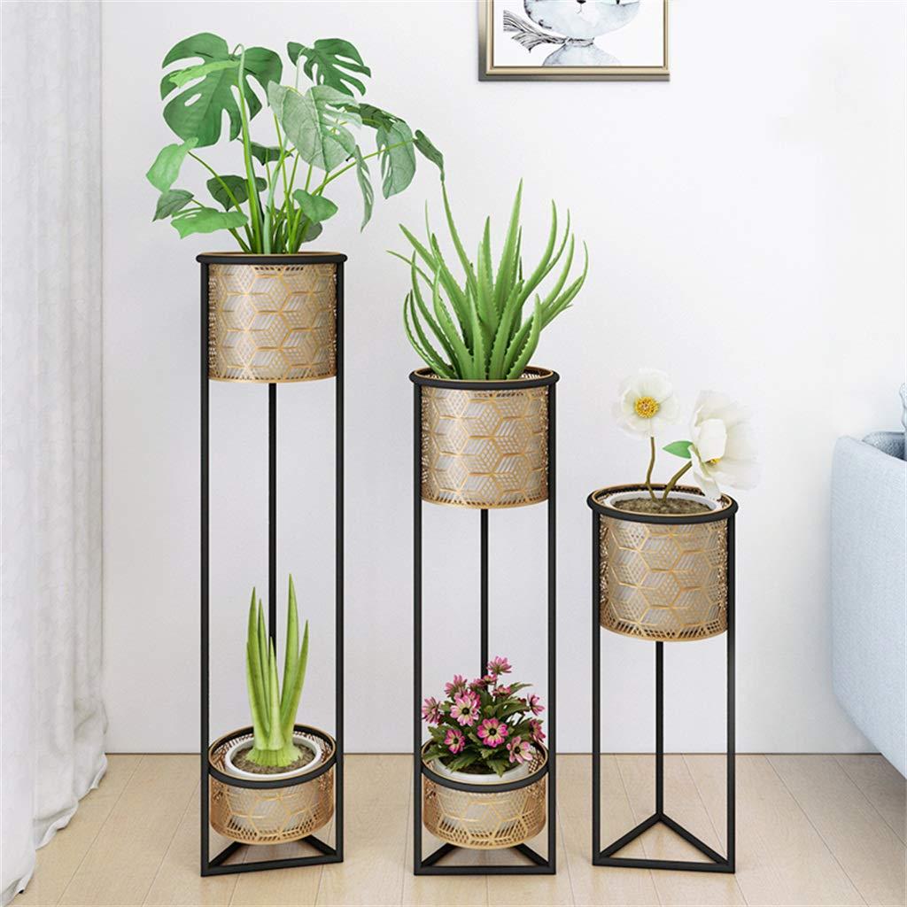 Pack de 3 macetas de Flores Mid Century Metal Display Rack Modern Plant Stands para jardín, balcón, hogar, Oficina (Maceta incluida) Altura: 23.6/31.4 / 39in: Amazon.es: Hogar