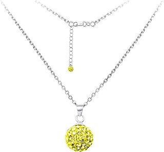 DiamondJewelryNY Silver Pendant, Spirit Sphere Nk/Univ of Michigan/Yellow