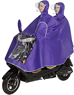 RFJJAL Cycling Jacket Unisex Tandem Bicycle, Ebike, Motorcycle, Scooter Poncho Raincoat Shawl (Color : Purple, Size : XXXL)