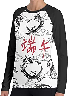 Lady T-Shirt Chinese Happy Dragon Boat Festival Long SleeveTee Comfortable Women's Long Sleeve T Casual Tank Tops T-Shirts