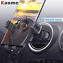 Kaome Round Vent Phone Holder for Car, Stable Car Phone Mount, One-Handed Operation Adjustable for iPhone Xs max/Xr/X/8 Galaxy S10/S9/S8 Note 10/9/8