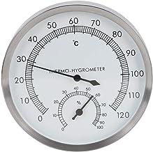 Thermomètre de Salle de Sauna, température de contrôle stricte 10 ° C à 120 ° C Thermo-hygromètre intérieur, pour Salle de...