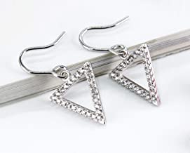 Fashion new temperament geometry inverted triangle diamond female design earrings ear hooks