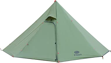Fltom Camping Hot Tent, Ultralight Teepee Tent for 2-3 Person with Flue Pipe Window, Includes Stove Jack