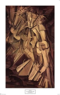 Nude Descending a Staircase, No. 2, 1912 by Marcel Duchamp Art Print, 22 x 35 inches