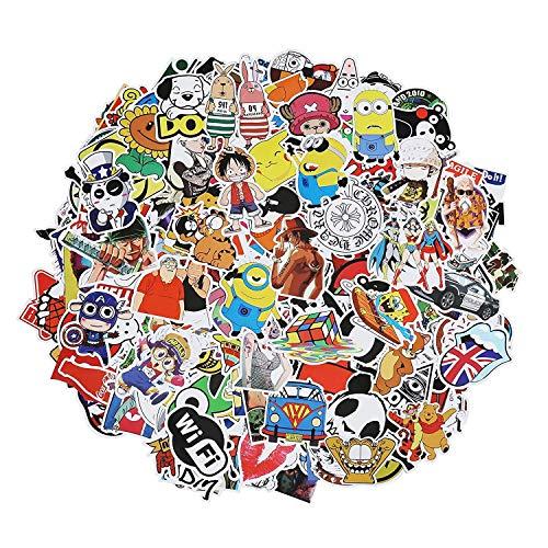 Xpassion Sticker Pack 300 Adesivi, Stickers Vinili per Computer Portatile, Bambini, Automobili, motociclette, Bicicletta, Graffiti Patch Adesivi, Skateboard Bottiglie d'Acqua, Bagagli, PS4