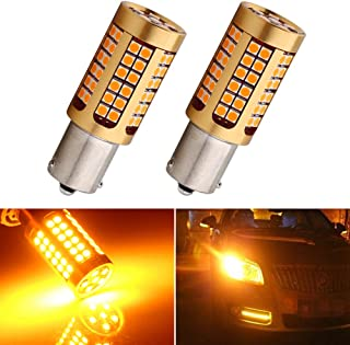 EverBright Turn Signal Light Canbus No Error 7507 BAU15S PY21W 5009 Replacement Led Bulb Amber DC