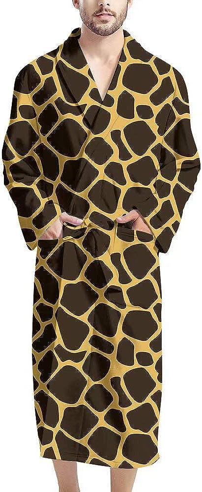 AFPANQZ Men Bathrobe Full-Length Long Sleeve Shawl Robes Pajama Kimono Robe Lounge Robes Nightgown