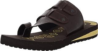 Ortho + Rest Men's Brown Flip-Flops-9 UK/India (43 EU) (M444BROWN9)