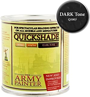 The Army Painter Quickshade Miniature Varnish for Miniature Painting, Dark Tone (250 ml)