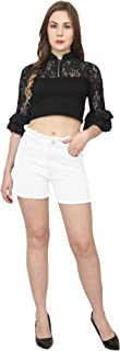 S-Blue's Stretchable High Rise Casual Wear Shorts for Women