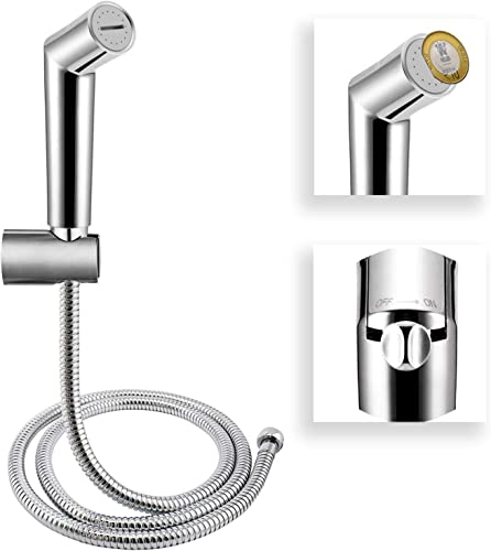 ALTON SHR20120 ABS Health Faucet With SS 304 Grade 1 25 Meter Flexible Hose Pipe and Wall Hook Chrome
