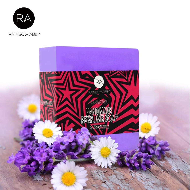 RAINBOW ABBY ラベンダー エッセンシャル オイル 石鹸 自然 手作り 香水 ソープバー 3.5oz 浴用石鹸、ハンドソープ、シェービング石鹸、ボディ&フェイス