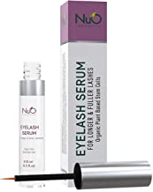 NuOrganic Eyelash Serum | Organic Plant Based Stem Cell, Lash Growth Serum (8ML) | Thicker, Fuller, Longer Lashes | Natural Ingredients with Active Peptides | Hypoallergenic, Vegan and Cruelty Free
