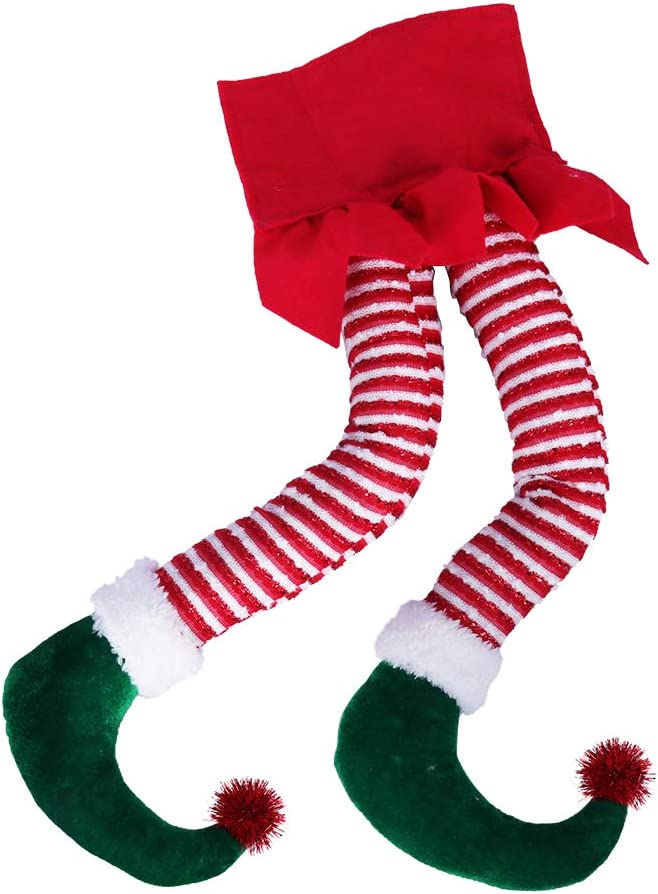 Hooqict 20'' Elf supreme Legs for Quality inspection Decorations Christmas Cotton Chri Tree