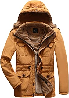 iLXHD Mens Warm Faux Fur Lined Quilted Winter Coats Jacket