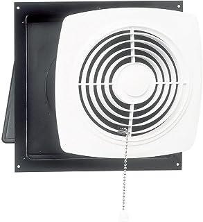 Broan-Nutone  506  Chain-Operated Ventilation Fan, Plastic White Square Exhaust Fan, 7.5..