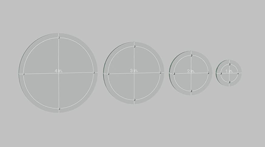 Circle Quilting Template Set, 4