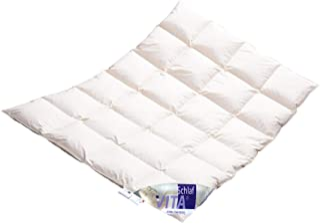 Vitaschlaf Winter Daunendecke Daunenbett MEGA WARM Premium Decke WILDENTE Made in Germany Since 1947 Größe 135x200cm