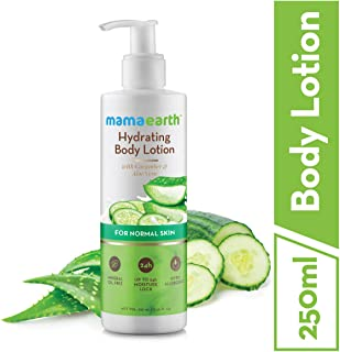 Mamaearth Hydrating Natural Body Lotion with Cucumber & Aloevera for Men & Women with Normal Skin for all seasons 250 ml