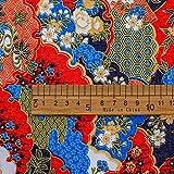 Tela de algodón Puro de Estilo Chino, Tela de arroz, Tela Estampada de Bronceado Azul, Tela de Costura de algodón DIY, 1 Uds 50cmX140cm